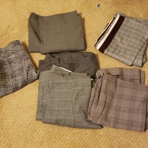 - Six pairs of pre-owned pants.